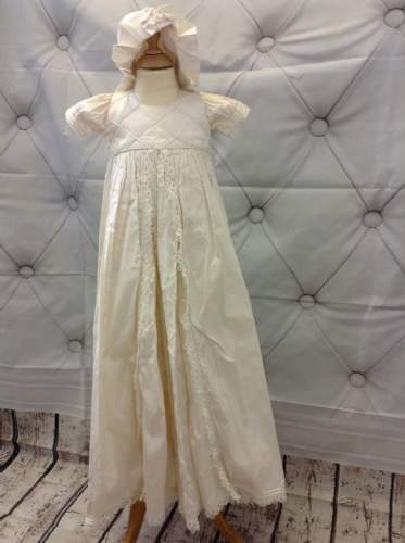 Vintage  Silk Criss Cross Panel Gown